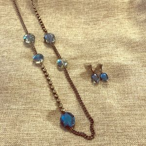 Kenneth Cole long necklace with earrings